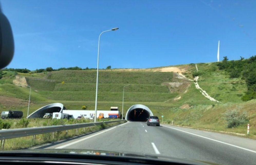 Туннель перед началом перевала